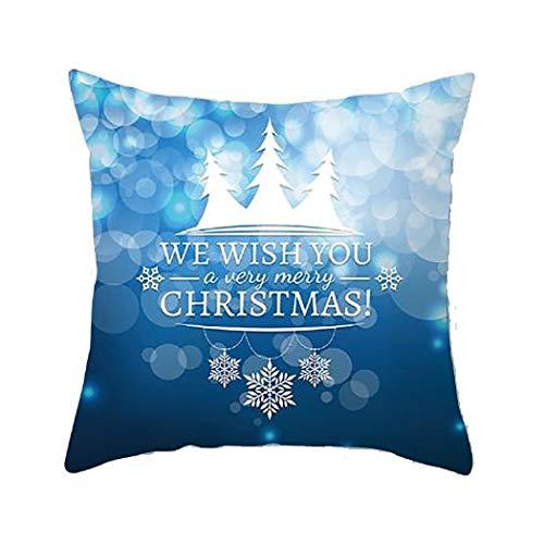 Sikena Fashion Square Christmas Style Print Reißverschluss Kissenbezug Home Decoration Spannbetttücher & Kinderzierkissen