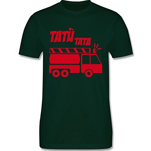Feuerwehr - Tatü Tata - Herren Premium T-Shirt Dunkelgrün
