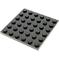 LEGO 3x Platte Bauplatte 6x6 Noppen schwarz 3958