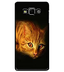 ColourCraft Cat Look Design Back Case Cover for SAMSUNG GALAXY A7