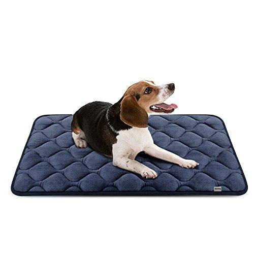 Weiche Hundebett Luxuriöse Hundedecken Waschbar Orthopädisches Hundekissen Rutschfeste Hundematte Grau Mittelgroße von HeroDog
