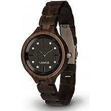 LAiMER orologio da polso in legno MARIA   legno sandalo e cristalli SWAROVSKI   100% prodotto naturale   Alto Adige   leggero come una piuma, ipoallergenico ed ecosostenibile