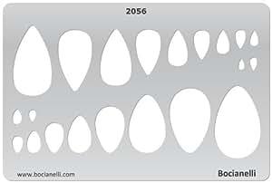 15cm x 10cm Normographe Plastique Transparent Trace Gabarit de Dessin Conception Graphique Art Artisanat Fabrication Bijoux Illustration - Larmes