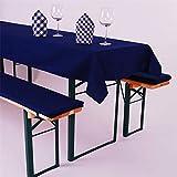 Biertisch Tischdecke eckig, Uni, Baumwolle Canvas, robust, strapazierfähig, langlebig, einfarbig, Tischwäsche, Tischtuch,