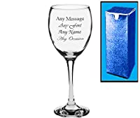 Personalised Engraved Wine Glass Wedding Bridesmaid Birthday 21st 50th Gift
