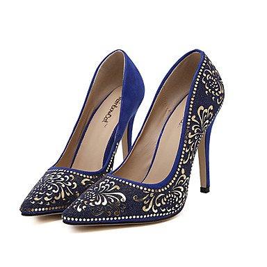 Moda Donna Sandali Sexy donna tacchi tacchi Estate Felpa casual Stiletto Heel altri nero / blu / Mandorla Altri Black
