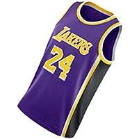 PUS Kobe Bryant # 24 Los Angeles Lakers, Camiseta Deportiva sin Mangas con Bordado clásico para Hombre, Chaleco de Jersey Transpirable de Malla Informal Retro Purple-XXL