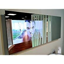 """Espejo Duriglass con Smart TV 24"""". 1200x500 mm. Televisión de alto diseño para tu baño."""