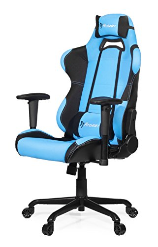 Arozzi - Torretta sedia da Gaming, Nero Azzurro, 50 x 55 x 130