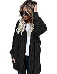 63d260cdd012 Damen Mantel Plüschjacke Frauen Winter Cardigan Langarm Warme Baumwolle  Wintermantel Faux Lose Langarm Outwear Winterjacke Mode