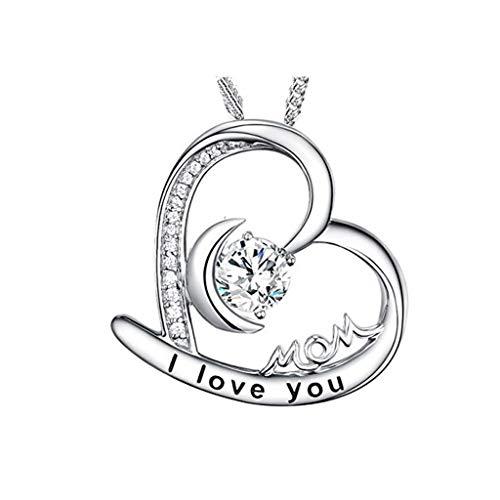 d Silber 925 Für Damen Edelstahl-Halsketten-Modeschmuck der Frauen-925 ()