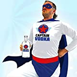 KULTFAKTOR GmbH Super Captain Vodka Kostüm für Erwachsene bunt Einheitsgröße