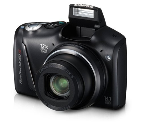Canon PowerShot SX150 IS 14.1MP Point-and-Shoot Digital Camera (Black)