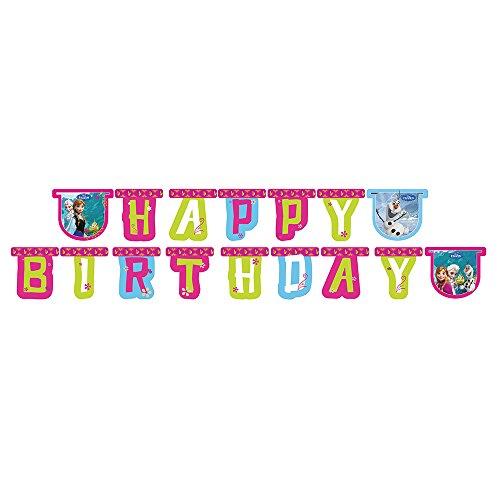 Disney Frozen Happy Birthday Gestanzte Girlande (Happy Birthday Frozen)