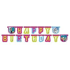Unique Party Partido Ênico 2 m Disney congelado Feliz cumpleaños Banner
