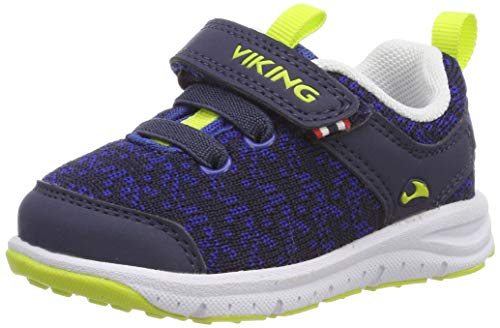 Viking Unisex-Kinder Veil Cross-Trainer, Blau (Navy/Lime 588), 29 EU