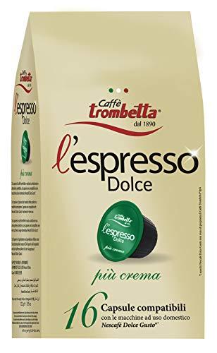 Caffè trombetta l'espresso dolce più crema - 8 confezioni da 220 g