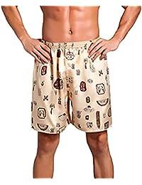 Pantaloncini Estivi da Uomo Fantasia da Pantaloncini Stampati Spiaggia  Pantaloni Abbigliamento Festivo da Mare Costumi da b361ee16872