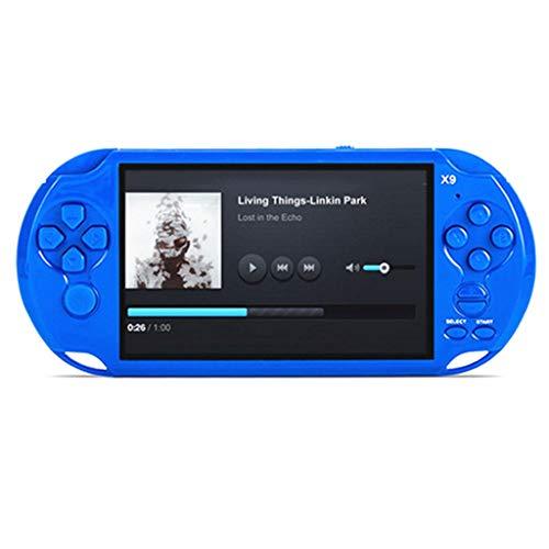 Jamicy  Handheld Spielkonsole, Retro Spielkonsole, Handheld-Videokonsole Street Fighers Final Fight Game Spieler, 5,0 Zoll großer Bildschirm, 8 GB 1300 Spiele (Blau)