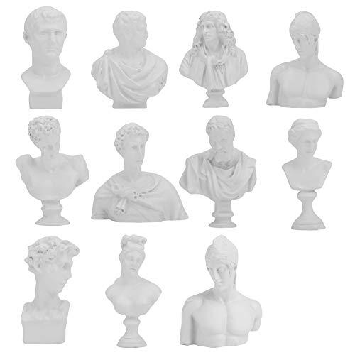 KEYREN Estatua Griega clásica Busto Escultura Resina Adornos decoración del hogar Retro carácter Europeo estatuillas Regalos