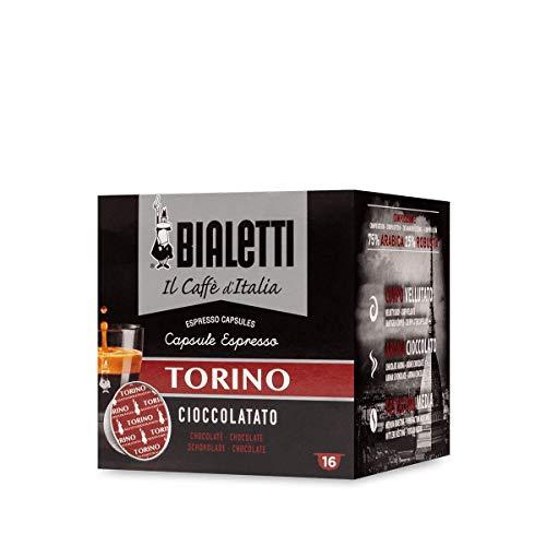 Bialetti Caffè d\'Italia Torino (Gusto Cioccolatato) - Box 16 Capsule