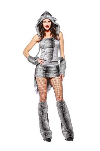 XSQR Sexy Halloween Catwoman Cosplay Grande Lupo Uniforme da Discoteca Partito Campo Notturno Costume DS Costume da Diavolo Vestito da Gatto Lupo di Lana Abito