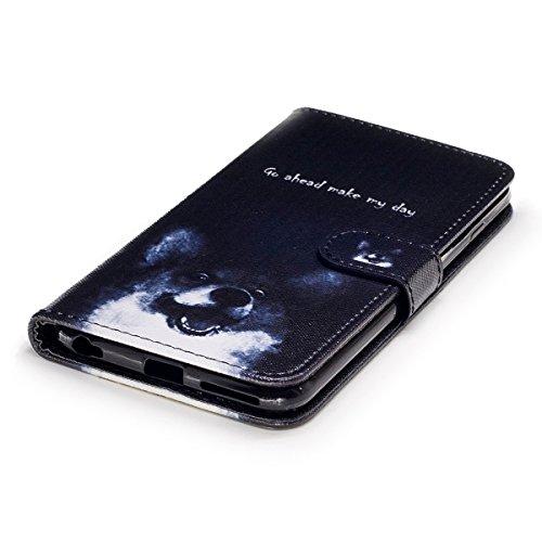 Custodia iPhone 6S plus Cover iPhone 6 plus,Ukayfe Flip Cover Wallet Case Custodia per iPhone 6S plus in pelle PU,iPhone 6 plus Lussuosa Astuccio Custodia Cover [PU Leather] [Shock-Absorption] Protett Cane corgi 2#