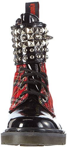 Demonia Rival-106 Damen Kurzschaft Stiefel Rot (Rot (Red Plaid))