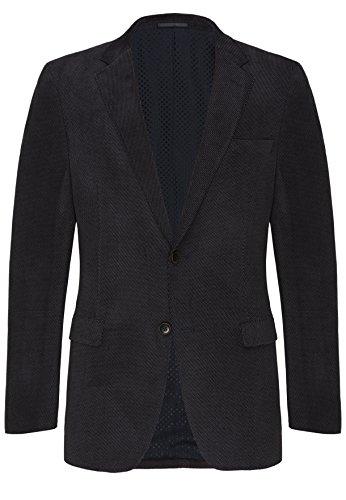 CARL GROSS Herren Freizeit Cord-Sakko Blazer Jacke CG Theo 72-303I0-63 blau,Größe 25 (Cord-sakko)