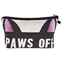 Leah's FashionŽ Cat & Dog Cute 3D New Concept women cosmetic bag Multifuncition cosmetic bag pencil case (paws off)