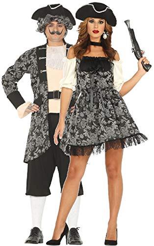 Piraten Vixen Kostüm - Fancy Me Paare Damen und Herren Barock Pirat Captain Karibik Buccaneer TV-Buch Film Film Halloween Karneval Kostüm Outfits