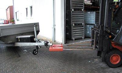 Bauer Rangierhilfe, Kupplungskugel, BxTxH 545x405x165 mm, max. Stützlast 100 kg, rot