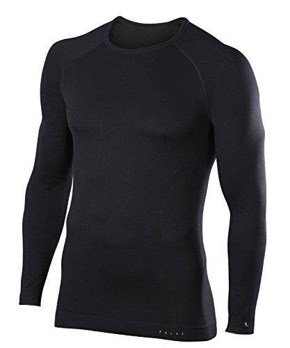 Cross Long Sleeve Shirt Schwarz (FALKE Herren Unterwäsche Maximum Warm Longsleeve Shirt Comfort Black, XL)