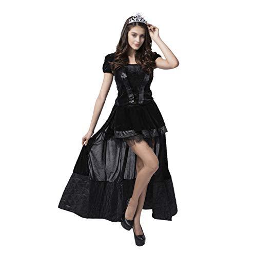 Zombie Rock Star Kostüm - GHDTGS Damen Halloween Cosplay Krankenschwester Braut Rock Damen Kleid Maid Kleid Durchführen Kostüme Halloween Dekoration Party Kostüm,D