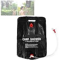 Botella de agua caliente solar portátil al aire libre de 20L, bolsa de baño, baño al aire libre, baño de sol, bolsa de almacenamiento de agua de ducha, adecuada para viajes al aire libre de natación
