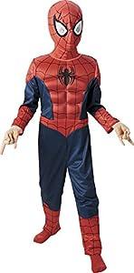 Marvel - Disfraz de Spiderman para niño, pecho musculoso y máscara, infantil 5-6 años (Rubie