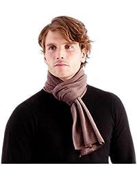 OCTAVE® Mens Soft Brown Polar Fleece Super Soft Scarf - Warm, Soft & Durable