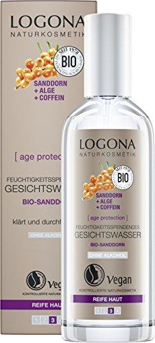 LOGONA Naturkosmetik age protection feuchtigkeitsspendendes Gesichtswasser, Vegan, 1er Pack (1 x 125 ml)