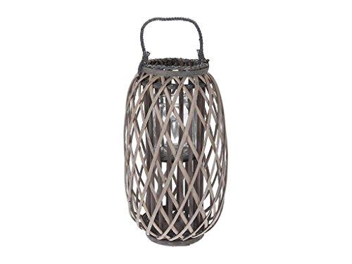 Naturale split willow lanterna con corda top–autoportante o da appendere con portacandela in vetro–basta aggiungere la candela disponibile in 3taglie–large, xtra large, xtra, xtra large, xtra xtra lge