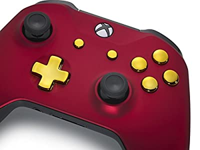 Customised Xbox One Controller, Red Velvet/Gold S Edition UKTM