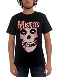 Misfits - Die - Blutiger Schädel Herren T-Shirt in Schwarz