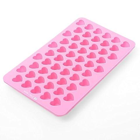 Xcellent Global Mini Herzform Silikon Eiswürfel / Schokoladen Gießform verschiedene