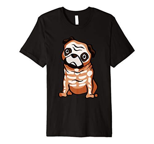 Mops Skelett T-Shirt Funny Bones Halloween Geschenk-Shirt