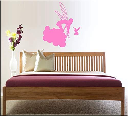Arredi murali wall stickers adesivi murali fata fantasia disegno adesivo fatina su nuvola decorazioni casa