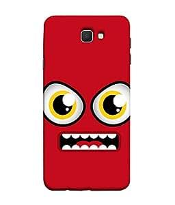 PrintVisa Designer Back Case Cover for Samsung On7 (2016) New Edition For 2017 :: Samsung Galaxy On 5 (2017) (Doodle design :: Angry cartoon design :: Animated design :: Red color design :: Funny design)