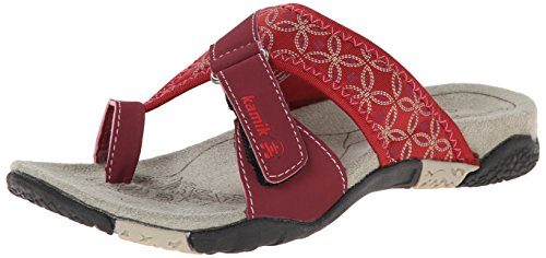 Kamik Mustique, Chaussures de Claquettes femme Rouge - Rouge