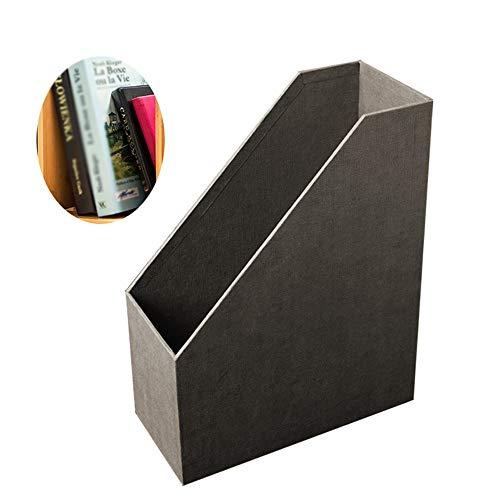 LeiQQ Aktenhalter - Buch Vertikale Desktop-Ordner, Umweltfreundliche Leinen-Papier-Datei Aufbewahrungsbox, Office Data Rack (Color : A) (Leinen-datei-ordner)