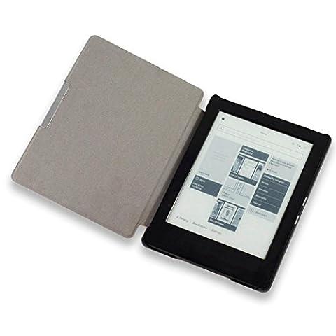 Malloom® Magnetic Auto Sleep Housse en cuir pour KOBO AURA H2O eReader + Touch Pen (Bleu)