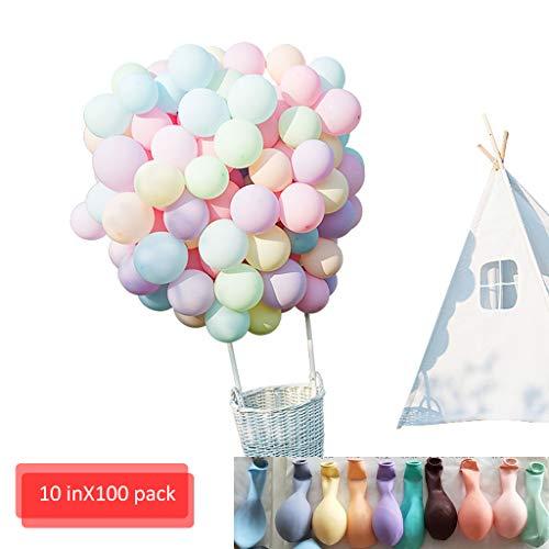 Amycute 100 pcs lattice balloons palloncino macaron,palloncini colorati misti per compleanno, matrimonio, festa di laurea, natale, baby shower