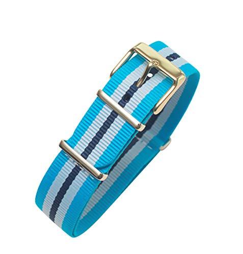 Timex Weekender Fairfield TW2P91000 | Blue/White Nylon Slip-Thru 20mm Original Replacement Watch Band